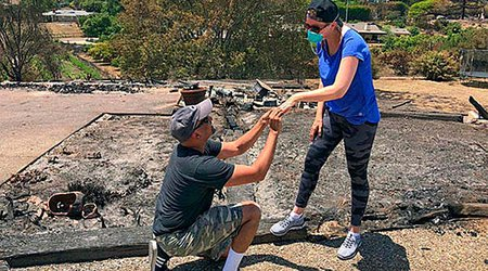 Man Proposes to His Wife — Again — After Finding Bridal Jewelry in Ashes of Destroyed Home
