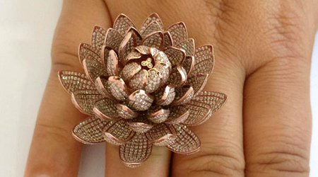 'Lotus Ring' Smashes Guinness World Record for the Most Diamonds Set in a Ring